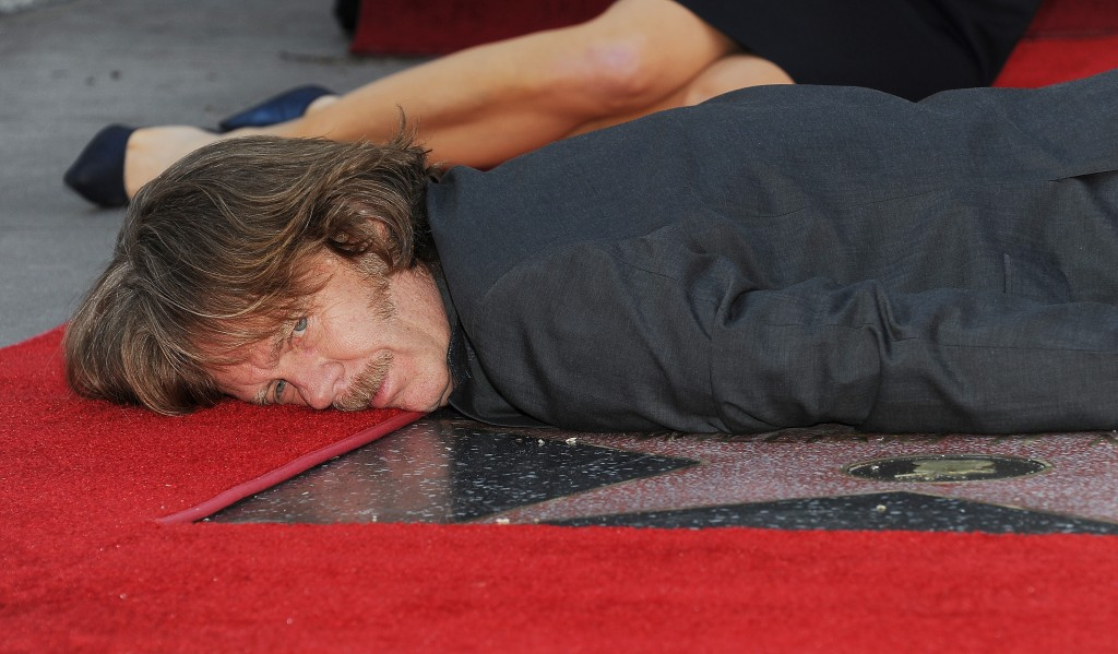 Actor William H. Macy poses on his star
